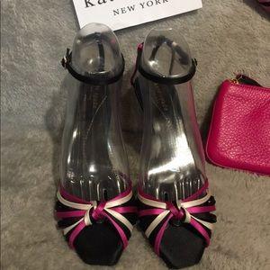 Kate Spade Raspberry & Black Heels
